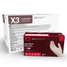 X3 Latex, Powder Free, Industrial Disposable Gloves, Large, Ivory, 1000/Case