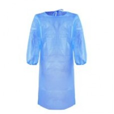 Cerem 45gsm Blue Disposable Anti-static Medical Gown Waterproof Protective Cloth 1 Ct
