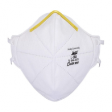 Harley N95 Respirator Face Mask-Model L-188-NIOSH Approved-20 per Box. Latex-free. More than 95% Filtration with Two Horizontal Straps Behind the Head.